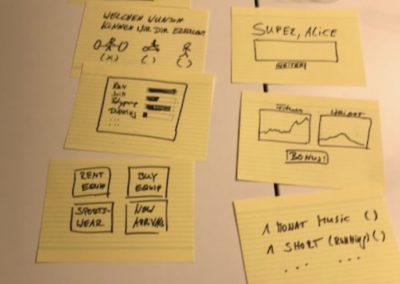 Beispiel Screencards gemeinsamer Prototyp